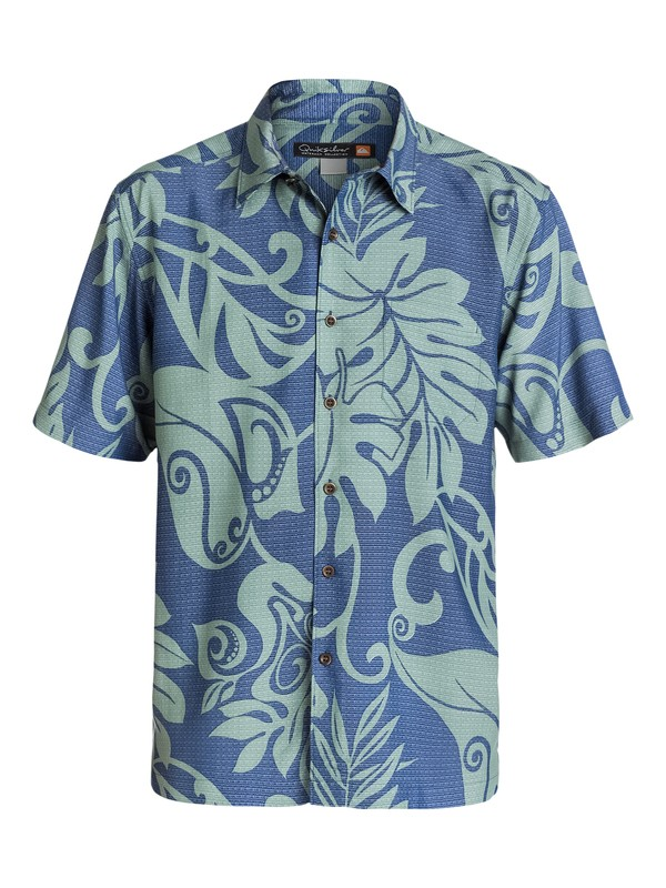 0 Men's West Bay Short Sleeve Shirt  AQMWT03088 Quiksilver