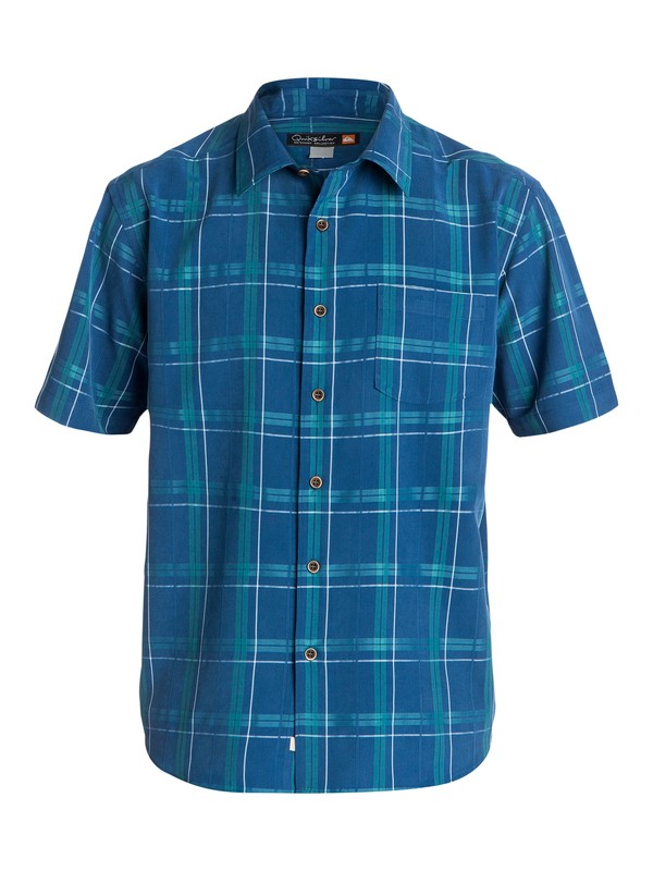 0 Men's York Harbor Short Sleeve Shirt  AQMWT03096 Quiksilver