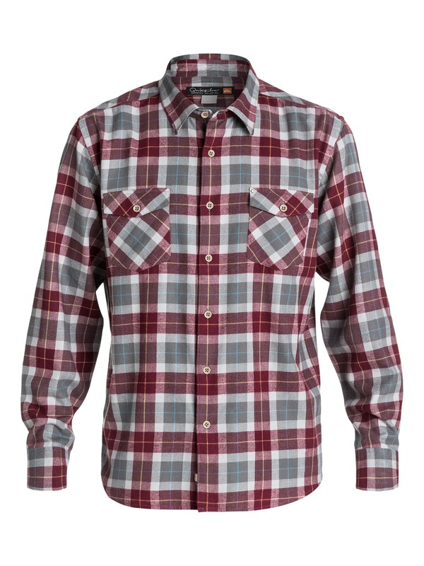 0 Men's Wade Creek Long Sleeve Flannel Shirt  AQMWT03102 Quiksilver