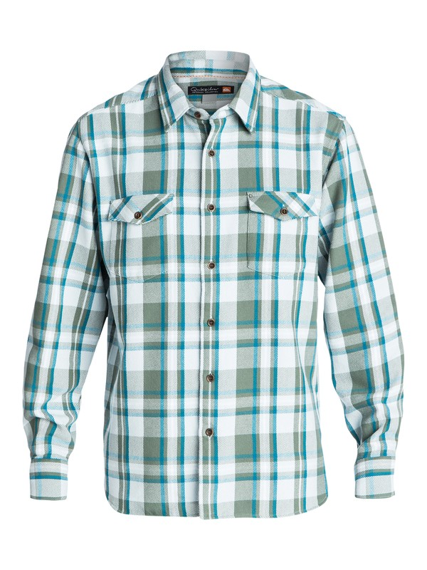 0 Men's Cedar Island Long Sleeve Shirt  AQMWT03103 Quiksilver