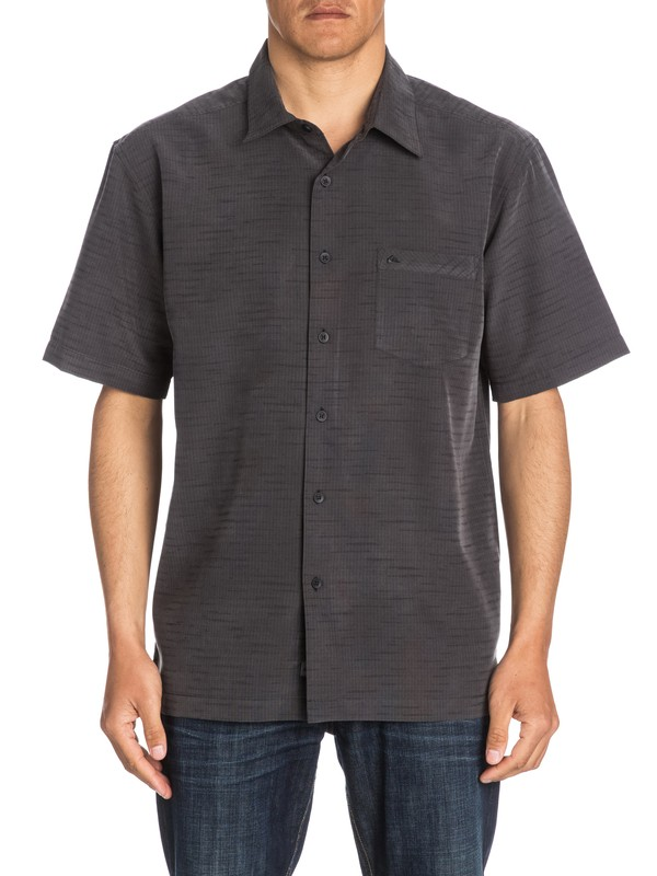 0 Waterman Centinela Short Sleeve Shirt Black AQMWT03106 Quiksilver
