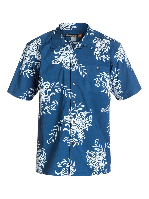0 Men's Rivieras Short Sleeve Shirt  AQMWT03110 Quiksilver