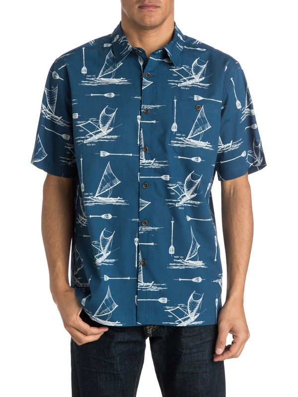 0 Men's Pops Short Sleeve Shirt  AQMWT03135 Quiksilver