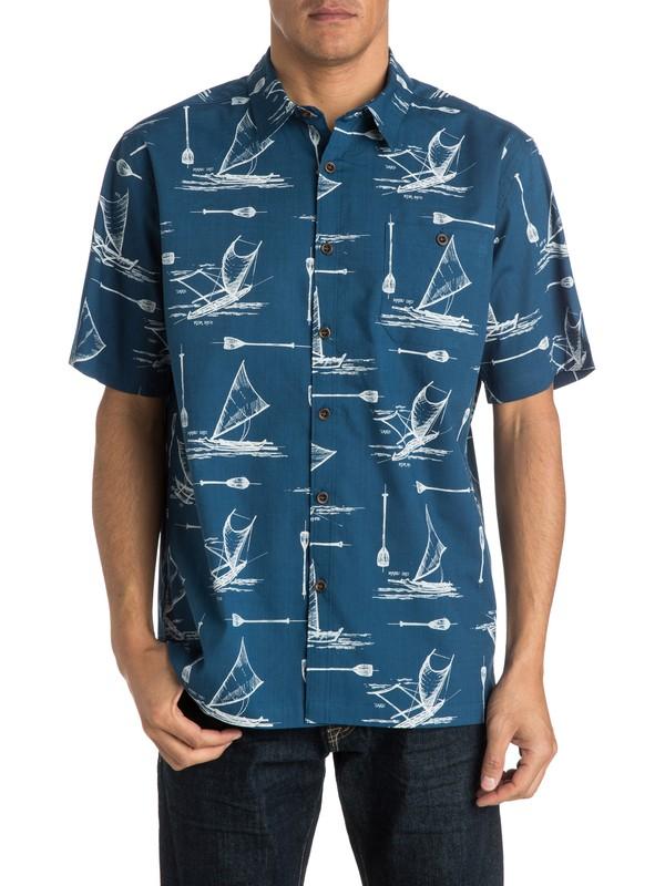 0 Men's Pops Short Sleeve Shirt  AQMWT03135 Quiksilver