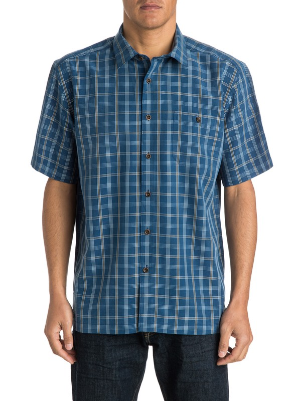 0 Men's Port Ludlow Short Sleeve Shirt  AQMWT03136 Quiksilver