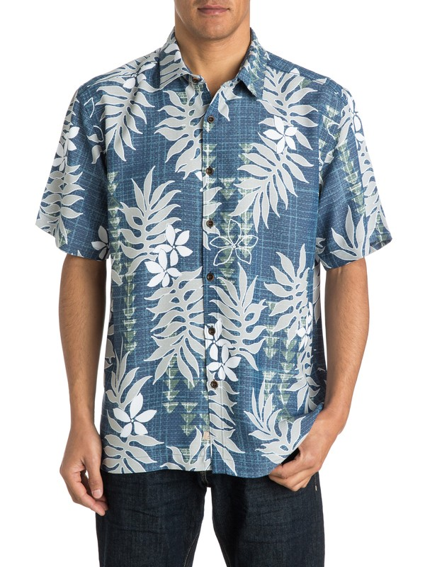 0 Men's Smoke Point Short Sleeve Shirt  AQMWT03137 Quiksilver