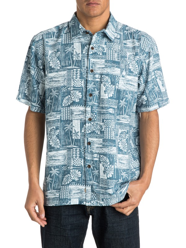 0 Men's Oak Harbor Short Sleeve Shirt  AQMWT03140 Quiksilver