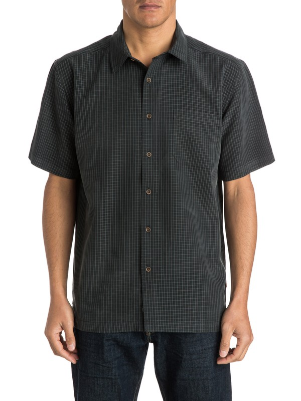 0 Men's Hadlock Short Sleeve Shirt  AQMWT03141 Quiksilver