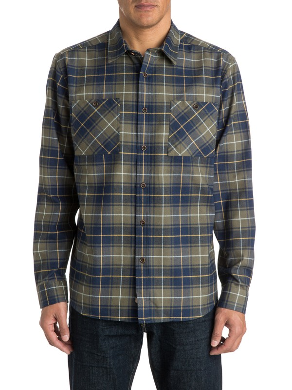 0 Men's Mercer Long Sleeve Shirt  AQMWT03145 Quiksilver
