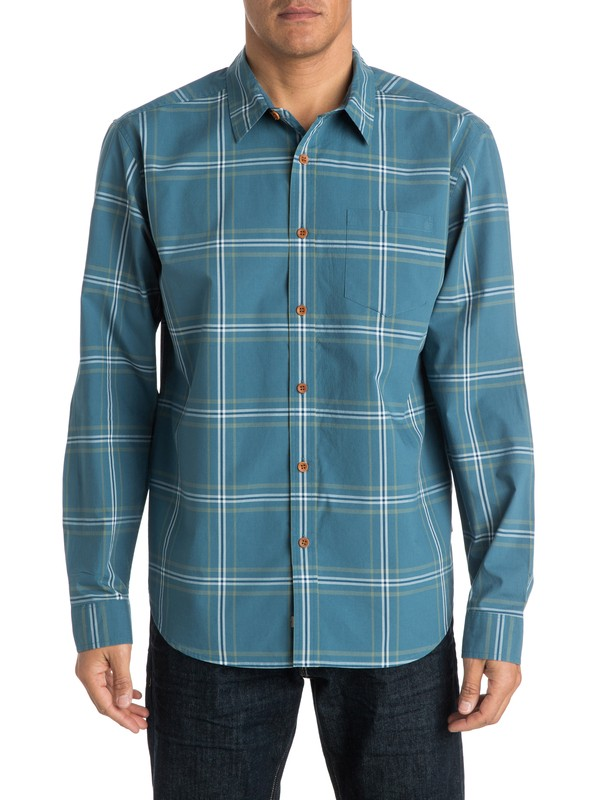 0 Men's Bahia Long Sleeve Shirt  AQMWT03147 Quiksilver