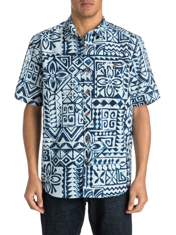 0 Men's La Playa Short Sleeve Shirt  AQMWT03149 Quiksilver