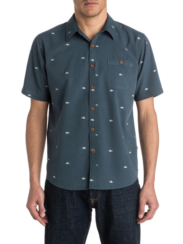 0 Men's Salina Cruz Short Sleeve Shirt  AQMWT03150 Quiksilver
