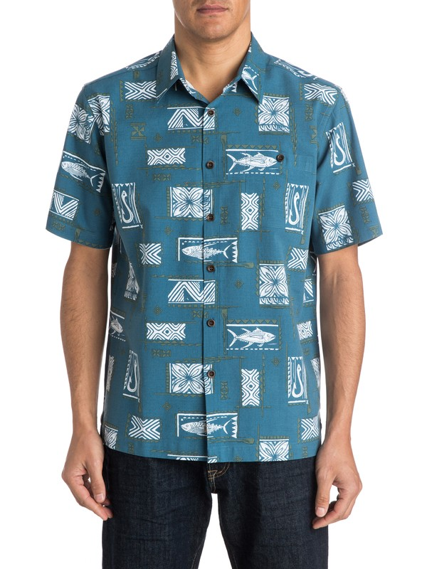 0 Men's Secret Cove Short Sleeve Shirt  AQMWT03152 Quiksilver