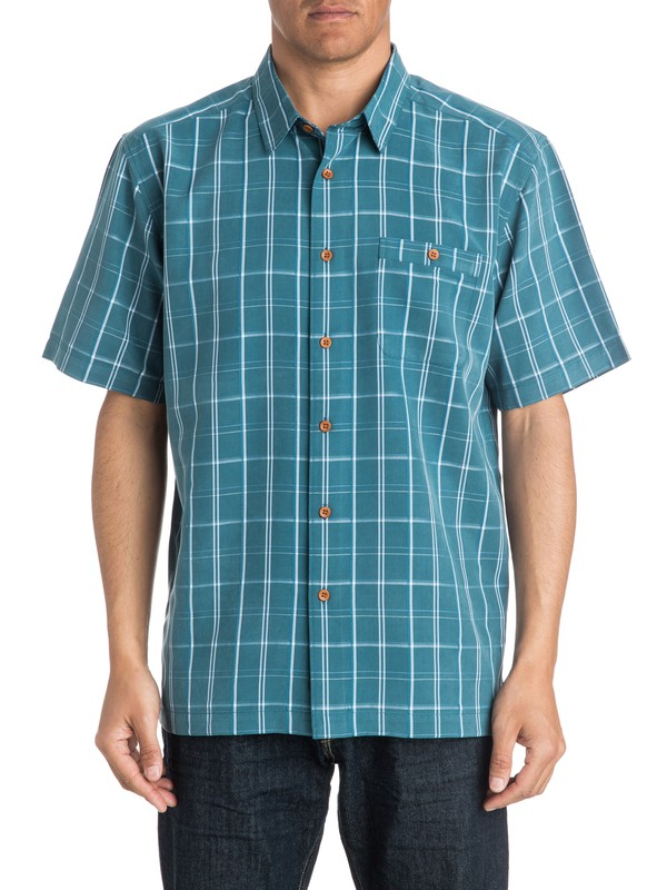 0 Mens Crows Nest Short Sleeve Shirt  AQMWT03168 Quiksilver