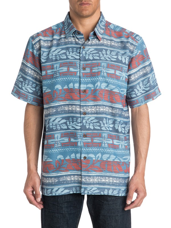 0 Waterman Pina - Short Sleeve Shirt  AQMWT03177 Quiksilver