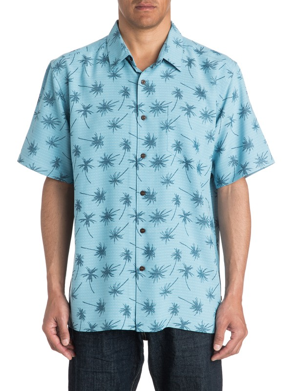 0 Mens Mini Palms Short Sleeve Shirt  AQMWT03178 Quiksilver