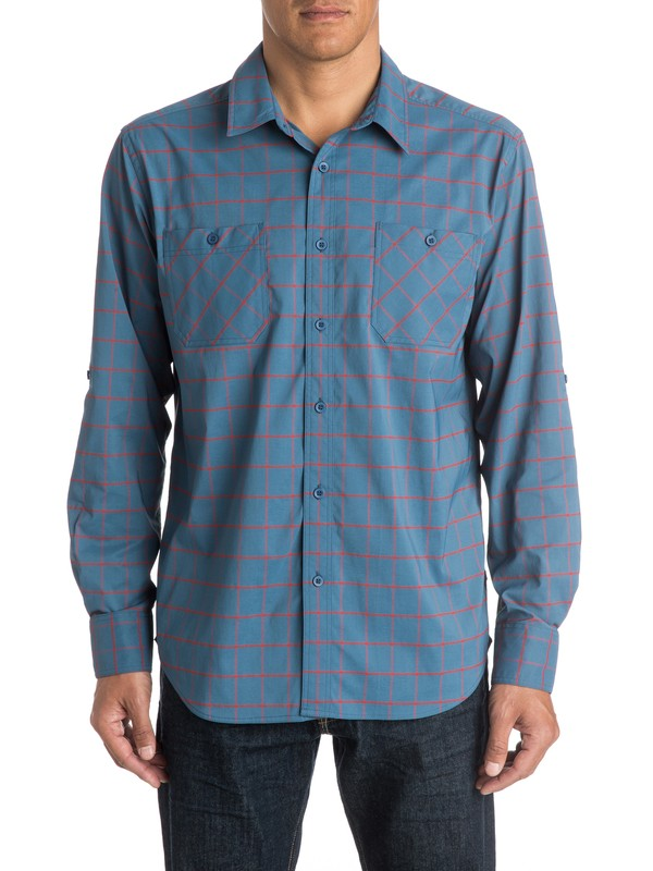 0 Mens Baja Norte Long Sleeve Shirt  AQMWT03184 Quiksilver