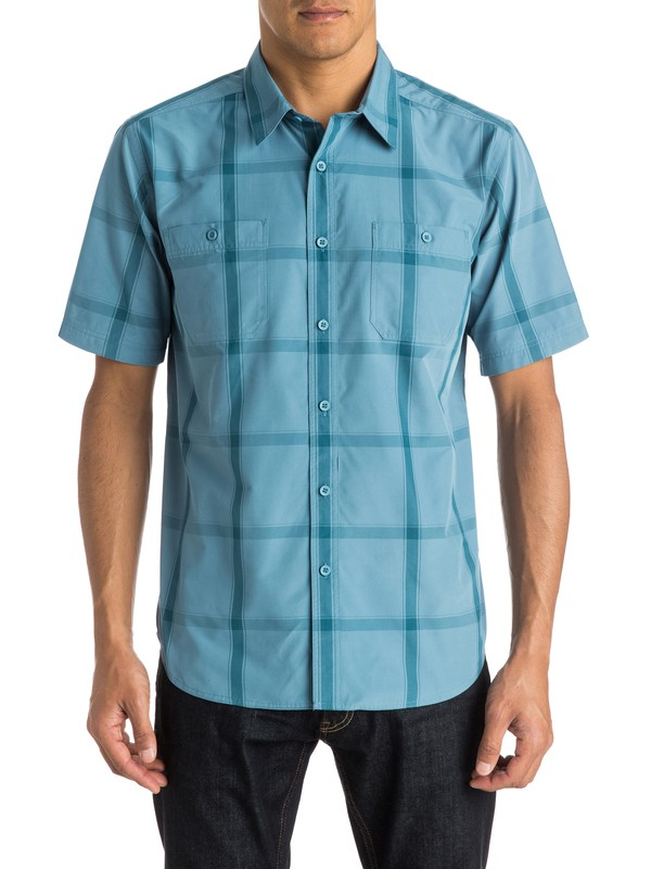 0 Waterman Starboard - Short Sleeve Shirt  AQMWT03195 Quiksilver