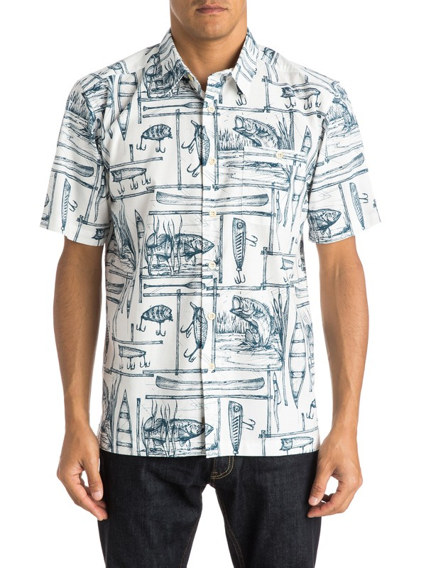 0 Waterman Angler - Short Sleeve Shirt  AQMWT03224 Quiksilver