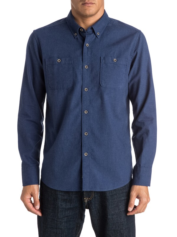0 Waterman Driftwood Long Sleeve Shirt  AQMWT03246 Quiksilver