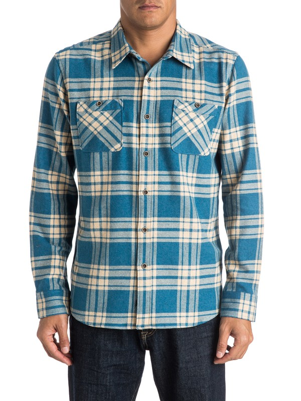 0 Waterman Worthy Vessel Flannel Long Sleeve Shirt  AQMWT03247 Quiksilver