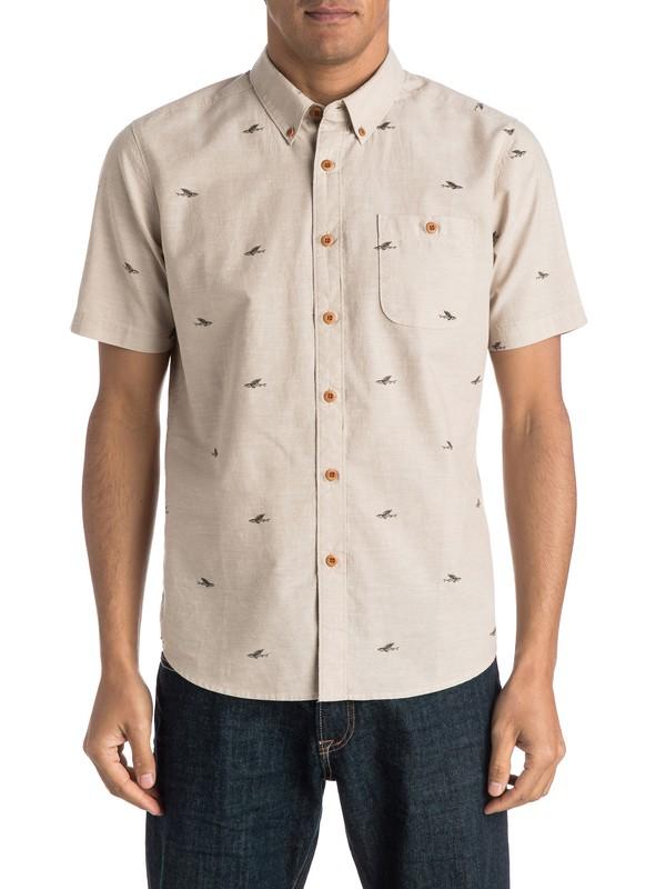 0 Waterman Post Haste Short Sleeve Shirt Beige AQMWT03258 Quiksilver