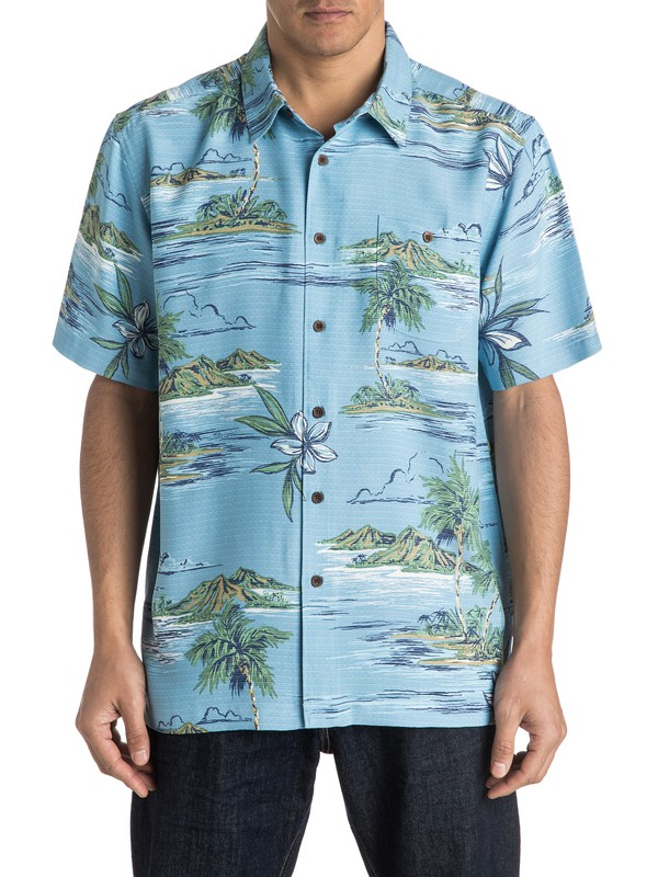 0 Waterman Tavuki Short Sleeve Shirt  AQMWT03291 Quiksilver