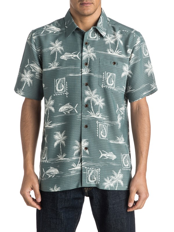 0 Waterman Makau Short Sleeve Shirt  AQMWT03292 Quiksilver