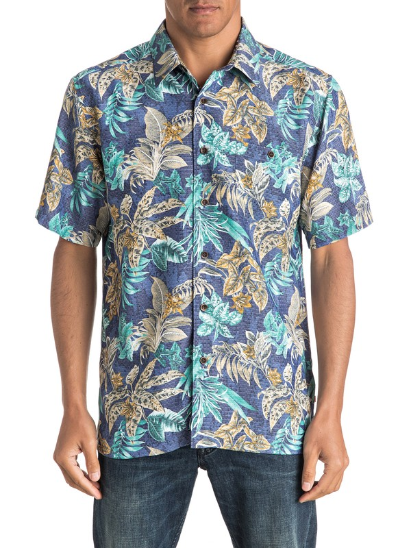 0 Waterman Daily Routines - Short Sleeve Shirt  AQMWT03319 Quiksilver