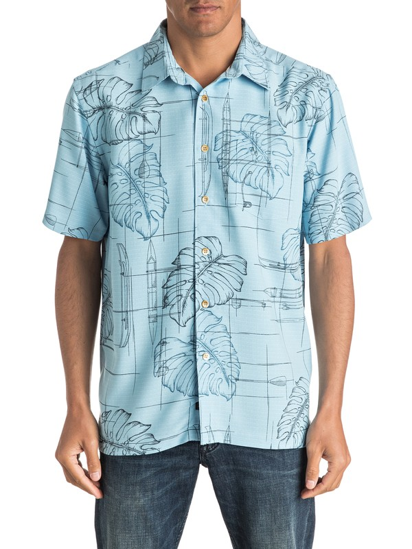 0 Waterman Big Kine - Short Sleeve Shirt  AQMWT03320 Quiksilver
