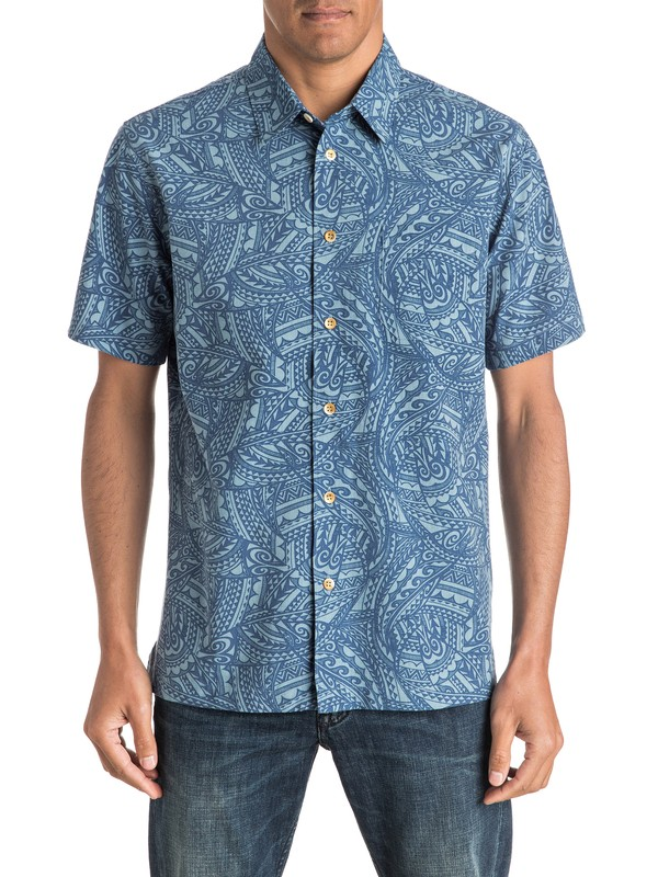 0 Waterman Big Cruiser Short Sleeve Shirt  AQMWT03325 Quiksilver
