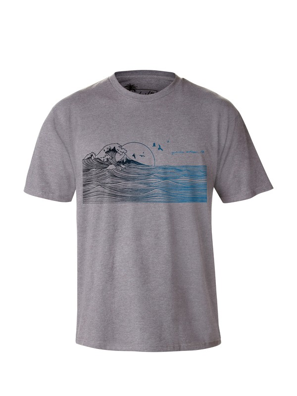 0 Men's Indicators T-Shirt  AQMZT03000 Quiksilver