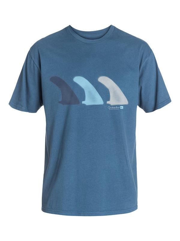 0 Men's Three Fins T-Shirt  AQMZT03073 Quiksilver