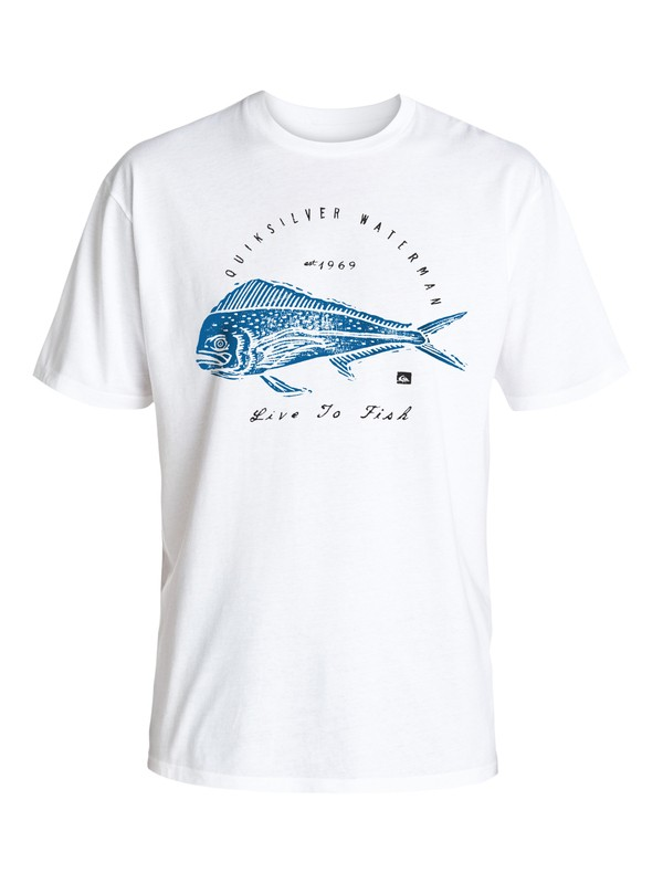 0 Waterman Live To Fish - T-Shirt  AQMZT03212 Quiksilver