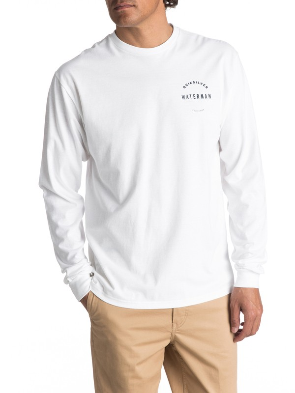 0 Waterman WTR Defined Long Sleeve Tee White AQMZT03255 Quiksilver