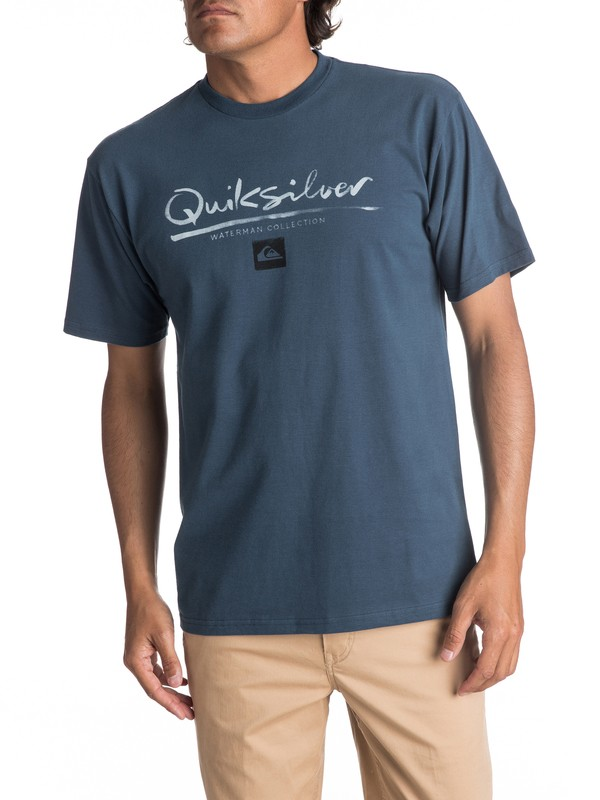 0 Men's Wordmark Tee Blue AQMZT03257 Quiksilver