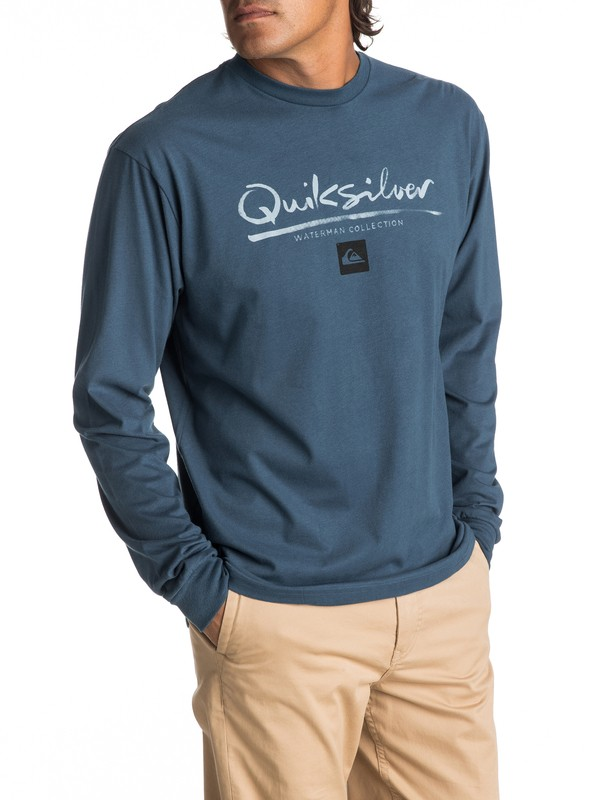 0 Men's Wordmark Long Sleeve Tee  AQMZT03269 Quiksilver