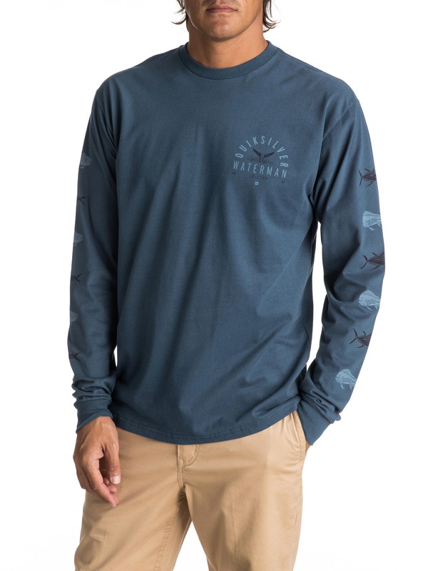 0 Men's Fresh Catch Long Sleeve Tee  AQMZT03271 Quiksilver