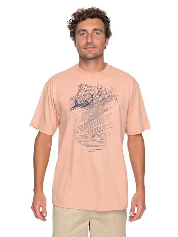 0 Waterman Big Guys Rule Tee Orange AQMZT03274 Quiksilver