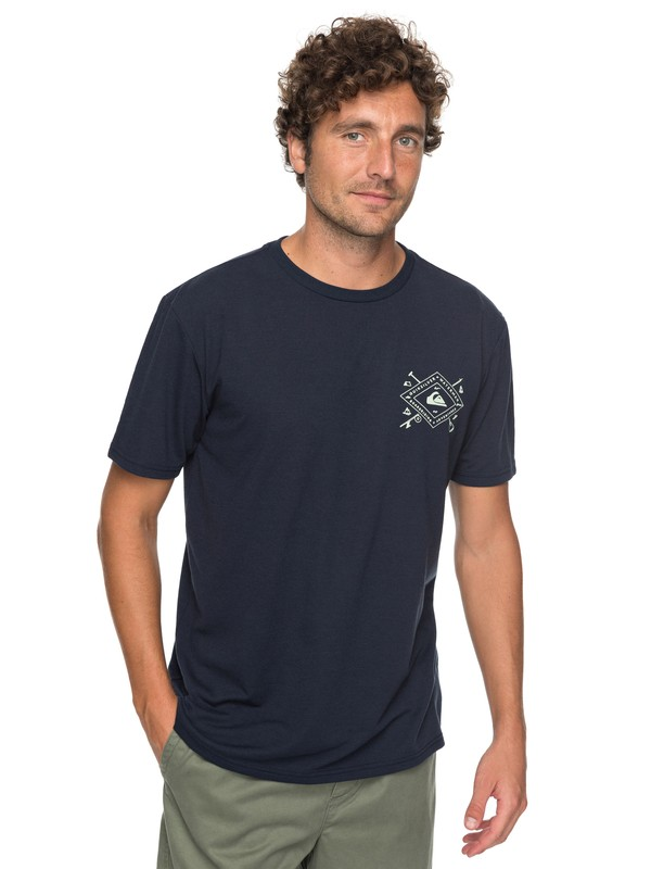 0 Waterman Sandhill Peaks Technical Tee Blue AQMZT03284 Quiksilver
