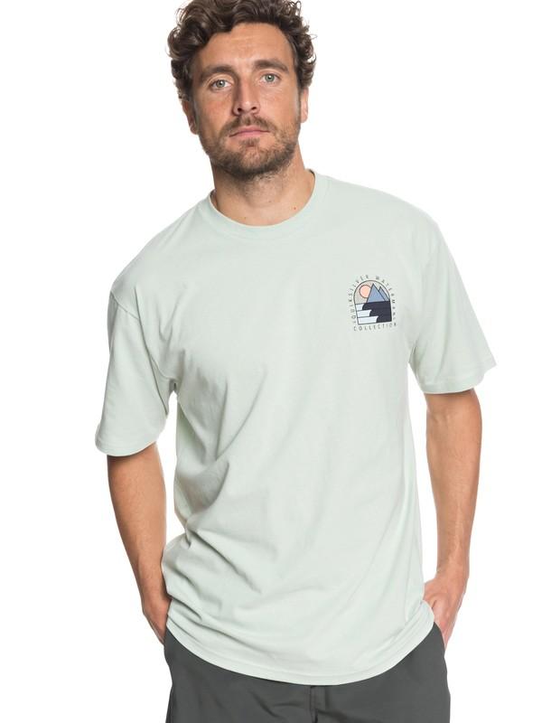 0 Waterman Paradise Window - T-Shirt Green AQMZT03293 Quiksilver