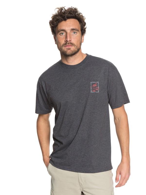 0 Waterman Stampboat - T-Shirt Black AQMZT03296 Quiksilver