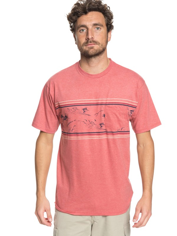 0 Waterman Maitai Band Pocket Tee Pink AQMZT03300 Quiksilver