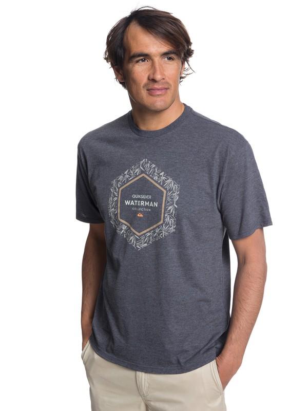 0 Waterman Bamboo Fields T-Shirt Black AQMZT03303 Quiksilver