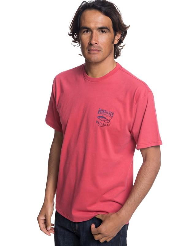 0 Waterman Gradient Curve T-Shirt Red AQMZT03307 Quiksilver
