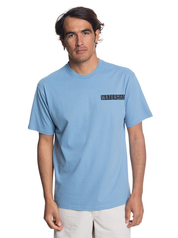 0 Waterman Peaks And Waves T-Shirt Blue AQMZT03310 Quiksilver