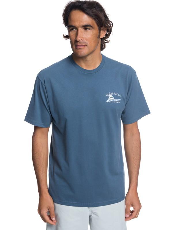 0 Hombres Camiseta Lauderdale Azul AQMZT03312 Quiksilver