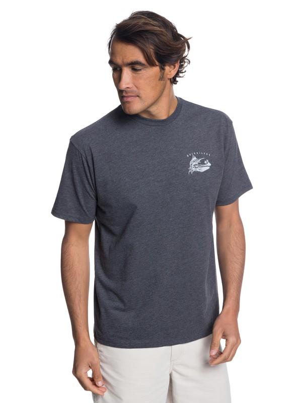 0 Waterman The Jumper T-Shirt Black AQMZT03313 Quiksilver