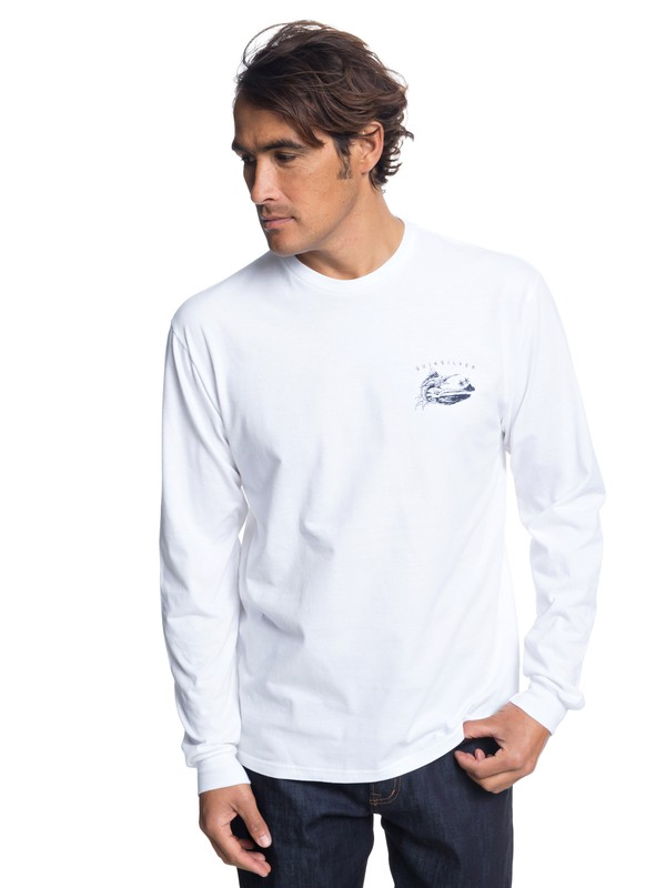 0 Waterman Sweater Long Sleeve Tee White AQMZT03314 Quiksilver