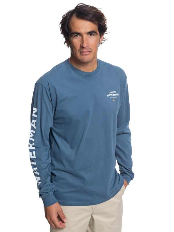 0 Waterman Righty Long Sleeve T-Shirt Blue AQMZT03315 Quiksilver